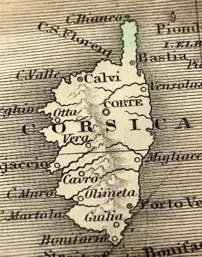 Karte Korsika